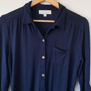Olive & Oak Navy Shirt Women's M